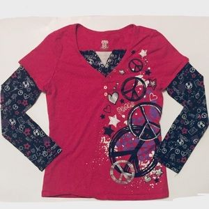 Route 66 Long Sleeved Printed Shirt